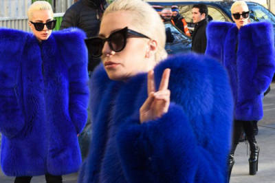 Lady Gaga quiso pintarse la piel de azul