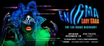 Análisis del póster de ENIGMA, del show de Lady Gaga en Las Vegas